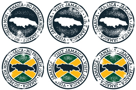 Vintage Style Jamaica Stamps Illustration