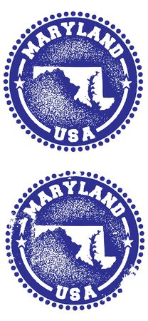 Maryland Stamps Vector