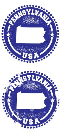 pennsylvania: Pennsylvania Stamps Illustration