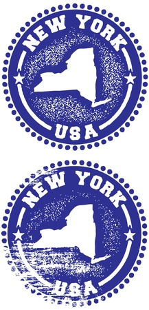 New York Stamps Vector