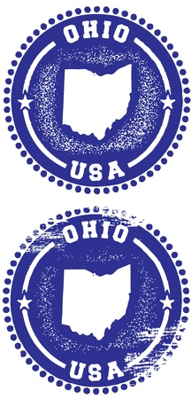 ohio: Ohio Stamps Illustration