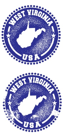 west virginia: West Virginia Stamps Illustration