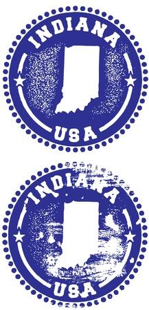 indiana: Indiana Stamps Illustration