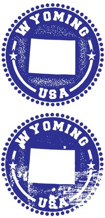 Wyoming Stamps Vector