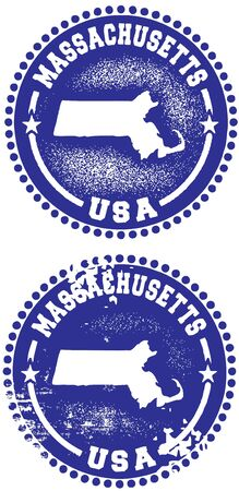 Massachusetts Stamps Vector