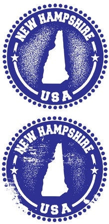 New Hampshire Stamps Vector