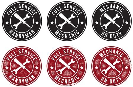 devoir: Mechanic & Handyman Timbres
