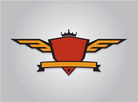 Winged Crest Illustration