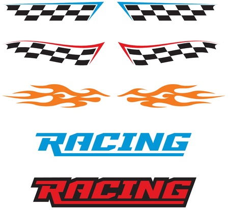 Racing Graphics Vector