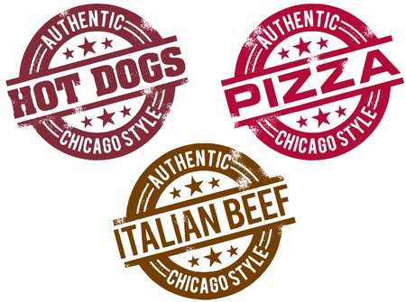 Chicago Style Food Stamps Vector