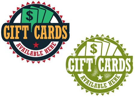 Gift Cards Available Here Vettoriali