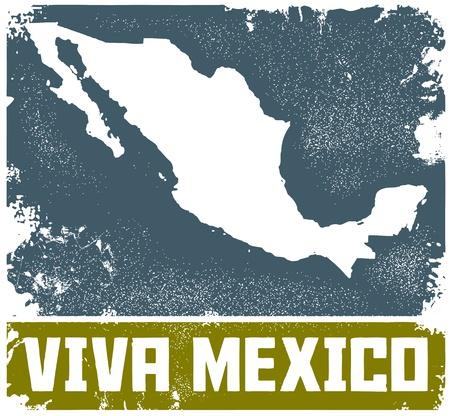 Мексика: Vintage здравствует Мексика Вход Иллюстрация