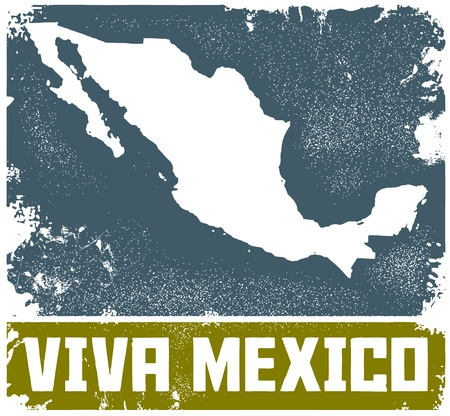 Vintage Viva Mexico Sign Stock Vector - 11602862