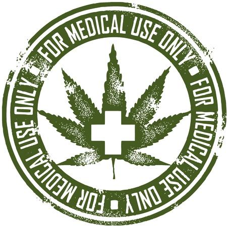 estampa: La marihuana m�dica Sello