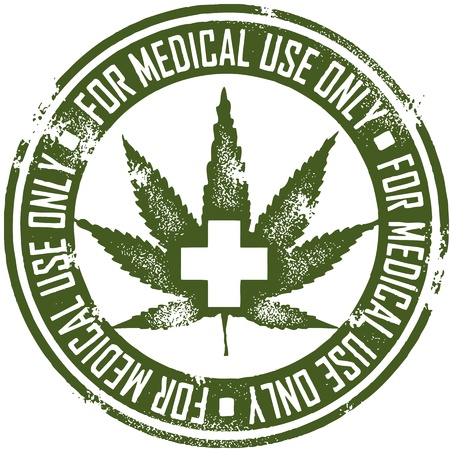 Medical Marijuana Stamp Vector