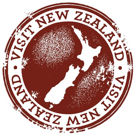 Vintage Style New Zealand Stamp Vector