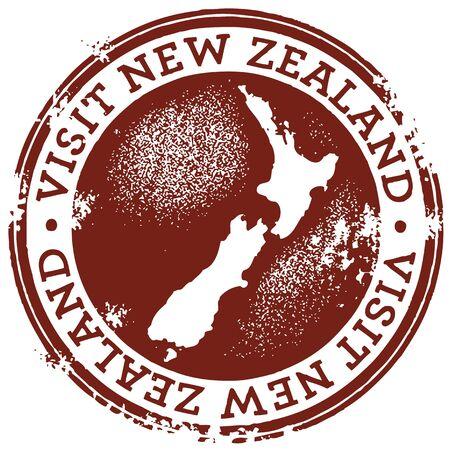 kiwi: Vintage Style New Zealand Stamp