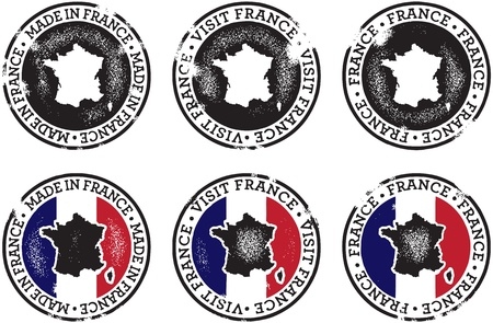 Vintage France Stamps for Tourism & Trade Stock Vector - 11602896