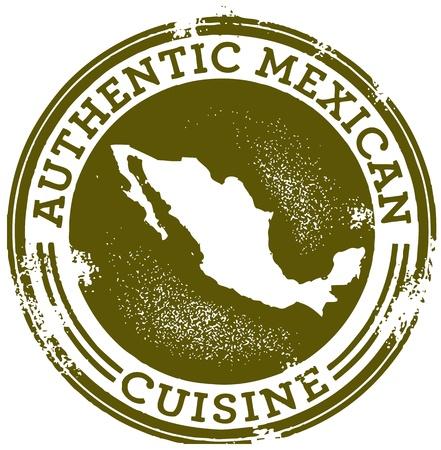 클래식 정통 멕시칸 푸드 스탬프 스톡 콘텐츠 - 11602898