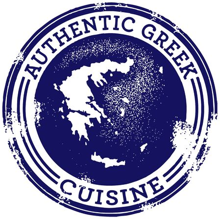 cuisine: Classic Authentic Greek Food Stamp