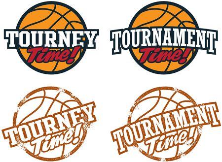 cancha de basquetbol: Torneo de Baloncesto de gr�ficos Vectores