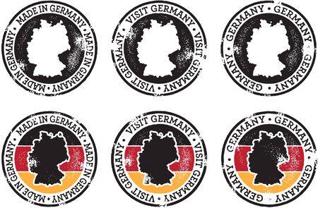 貿易および観光事業のためのドイツのスタンプ  イラスト・ベクター素材