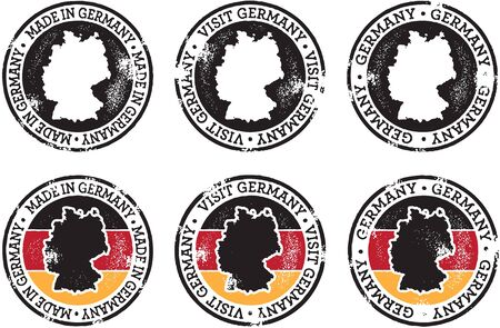 Germany Stamps for Trade and Tourism Stock Vector - 11602901