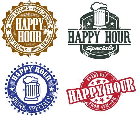 Gráficos Happy Hour Foto de archivo - 11602906