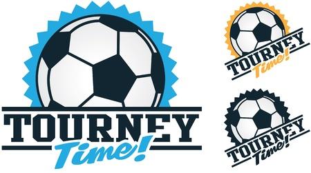 Soccer Tournament Graphics Ilustracja