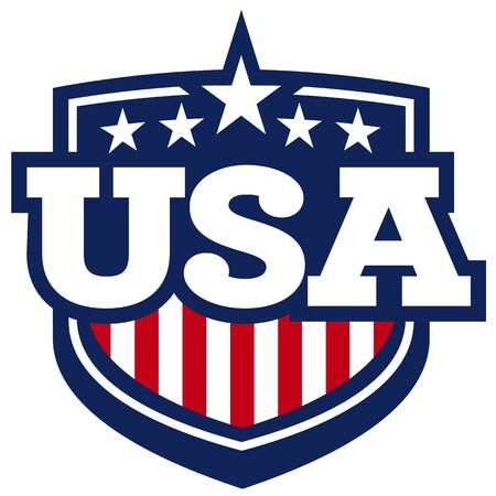 stripe: USA Shield