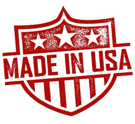 сделанный: Сделано в США Stamp
