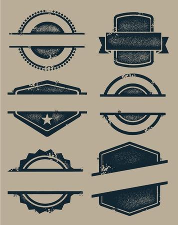 空白のビンテージ シールや切手