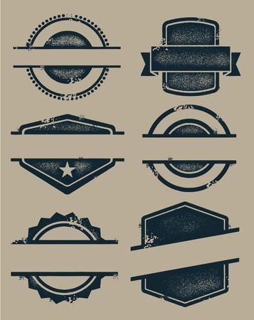 Blank Vintage Seals and Stamps Vector