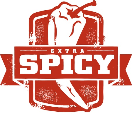 thai chili pepper: Extra Spicy Stamp