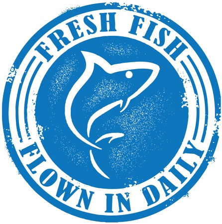 pescados y mariscos: Pescado fresco tra�dos diariamente Vectores
