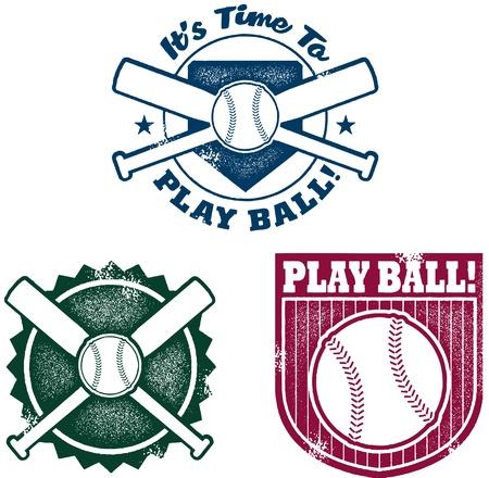 baseball diamond: Vintage Style Baseball or Softball Stamps