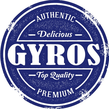Vintage Style Greek Gyro Stamp