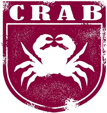 Vintage Crab Seafood Crest