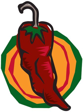 Funky Chili Pepper Vector