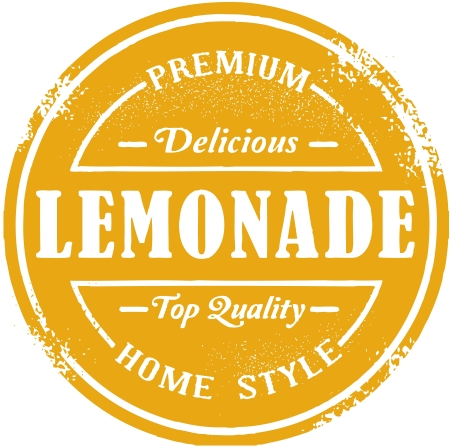 limonade: Vintage Lemonade Stamp Stock Illustratie