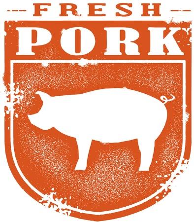 rib: Vintage Style Pork Crest