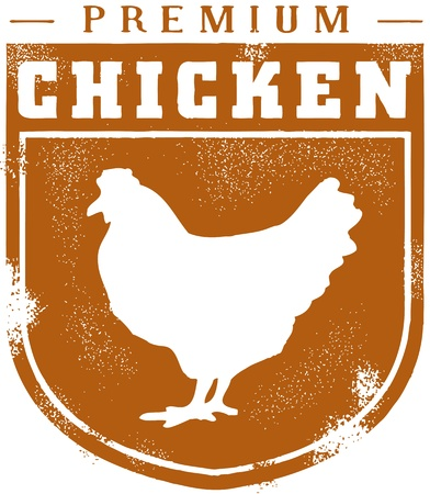 Vintage Style Chicken Crest Stock Vector - 13849208