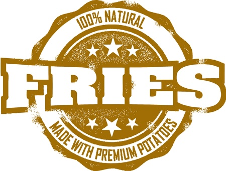frites: Vintage French Fries Stamp