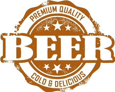 Weinlese-Premium-Bier-Stempel Standard-Bild - 14404786