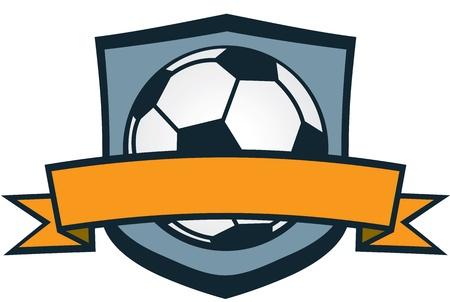 Team van het Voetbal Crest Stock Illustratie