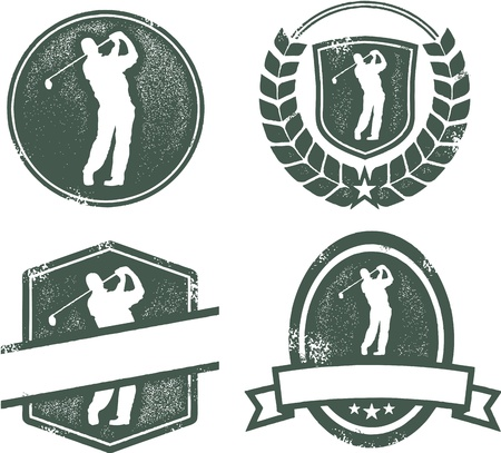 golf: Vintage Golf Emblems Illustration