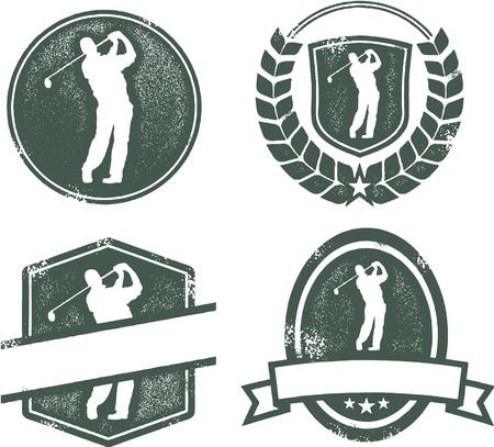 Vintage Golf Emblems Illusztráció