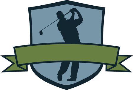 골프 선수 크레스트 일러스트