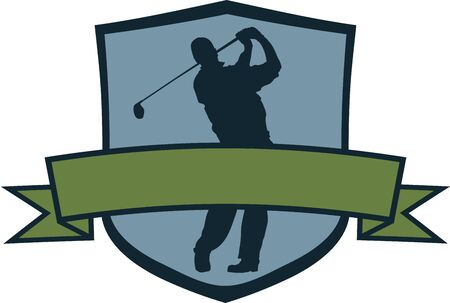 Golf Player Crest Vector