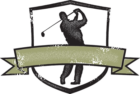 crest: Vintage Golf Player Crest